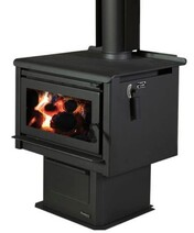 Masport Rakaia - Freestanding  (ULEB) wood fire on pedestal